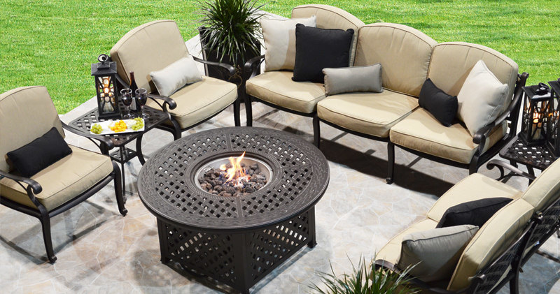 "Weave 48"" Round Firepit Table D O T Furniture Limited"